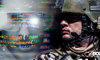 U.S. Marine Corps Cyber Command and Marine on duty