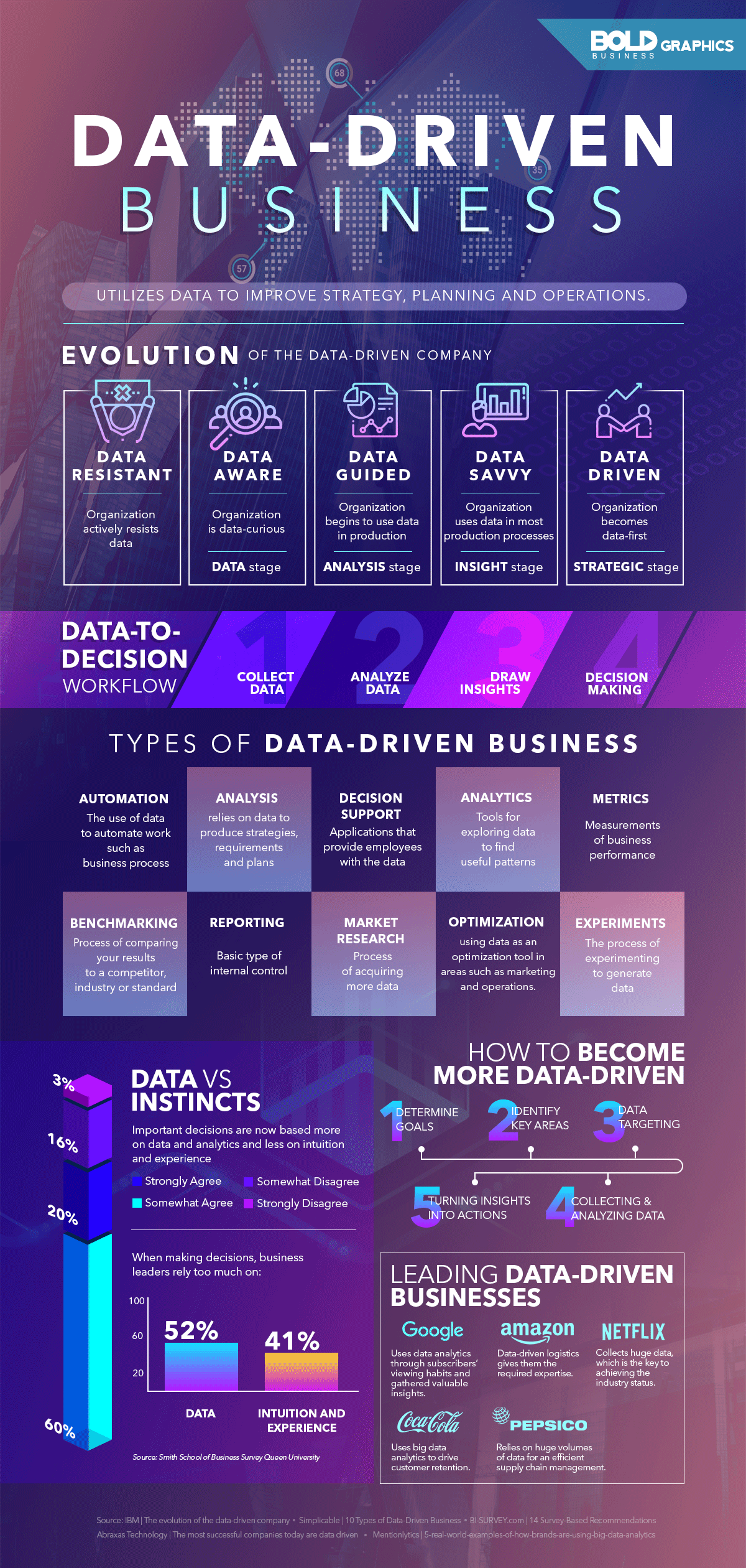 Data-Driven Business Infographic