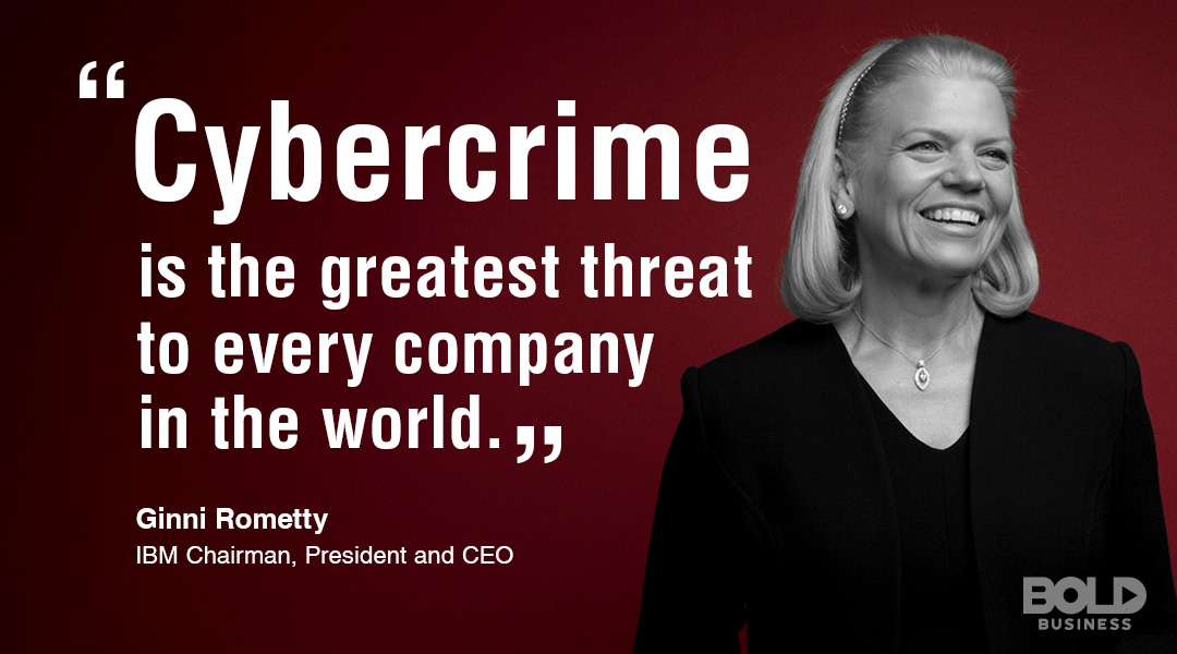 IBM Chairman, President and CEO Ginni Rometty discusses Cybercrime and impact on Marine Corps Cyberspace Command