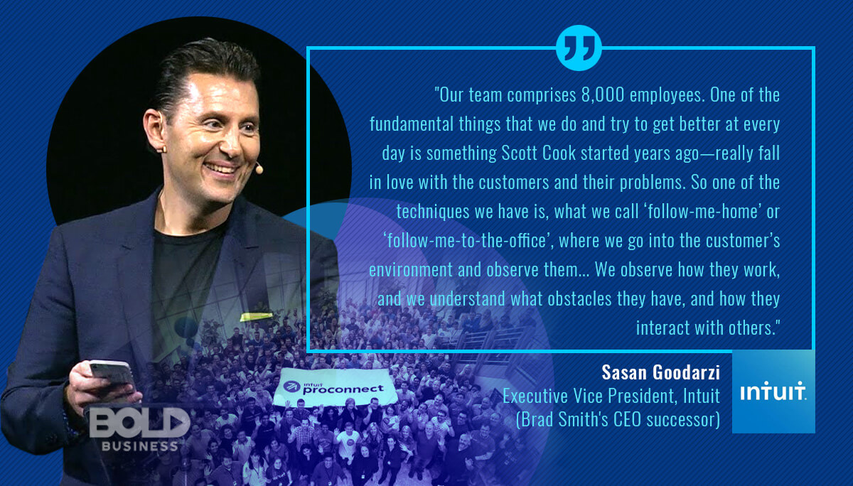With QuickBooks products and TurboTax, Intuit leadership and business has been one of bringing once-complex tasks into the realm of PCs.