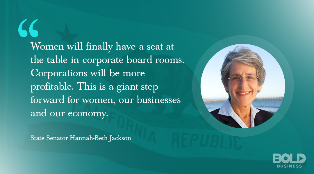 California mandates women on corporate boards for greater diversity.