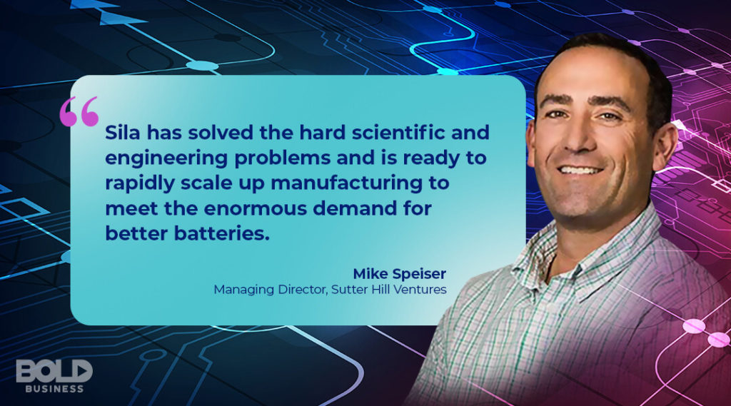 a photo quote on the battery specialist, Sila Nanotechnologies, by Mike Speiser