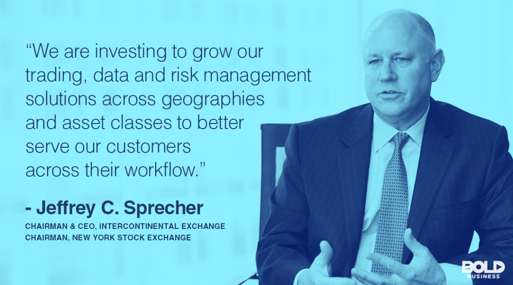 The Intercontinental Exchange (ICE) CEO Jeff Sprecher