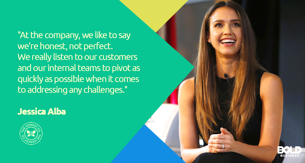 Jessica Alba's photo quote about The Honest Companies Customers