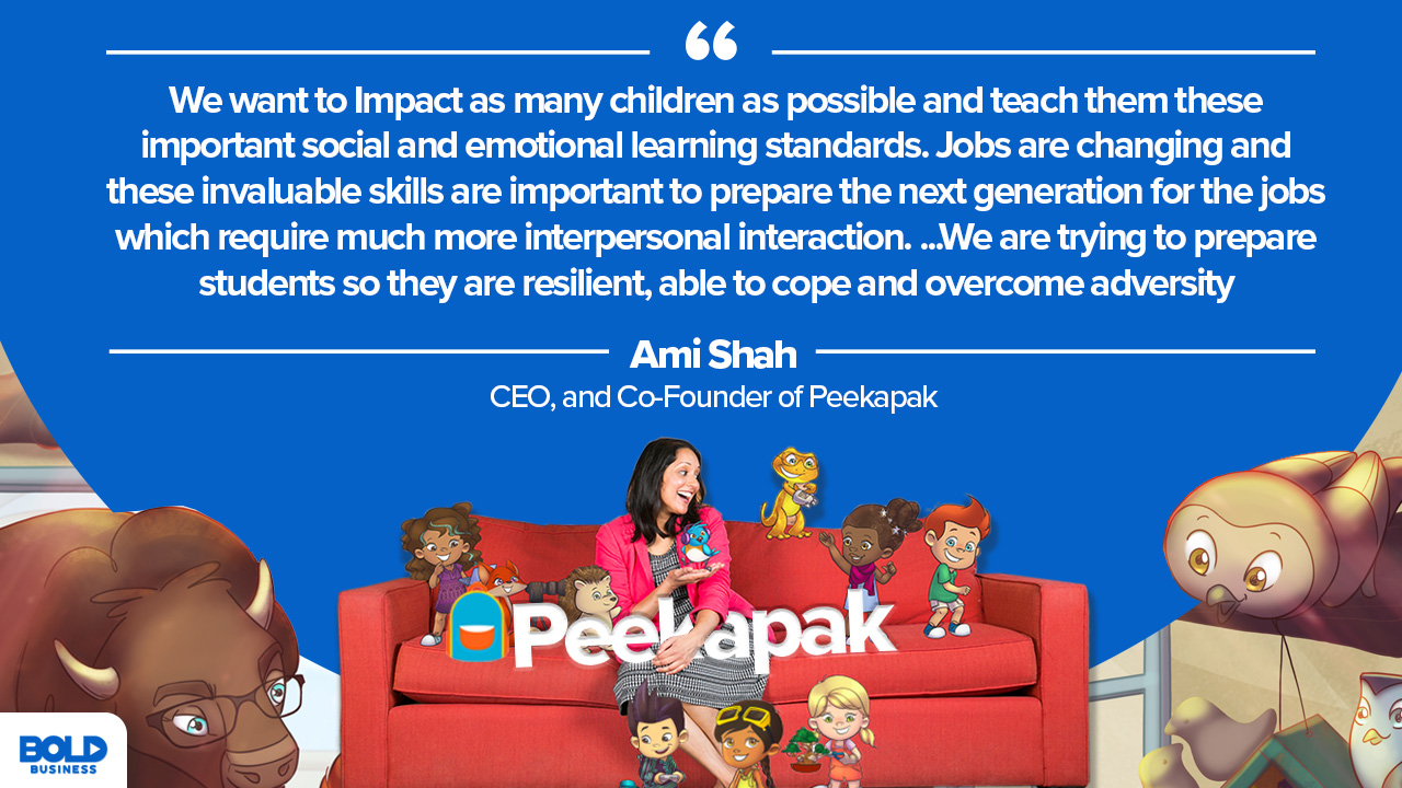 Ami Shah CEO and Co-founder Peekapak describes impact on social and emotional learning standards
