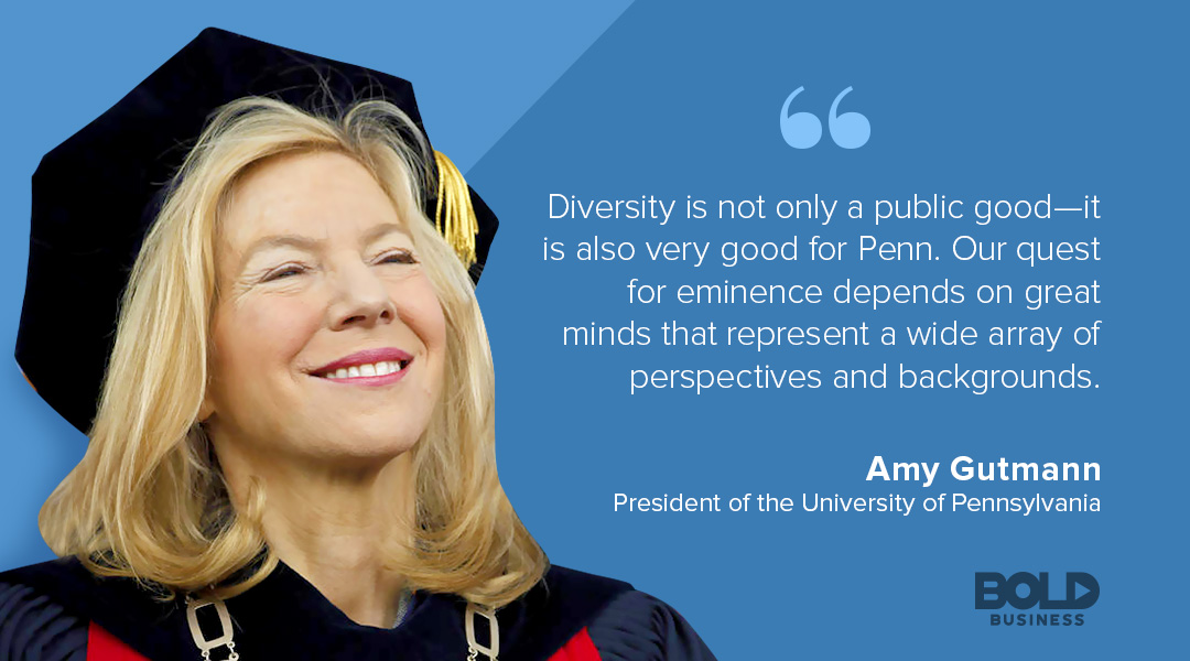 university of pennsylvania in philadelphia president amy gutmann dicussing diversity and University of Pennsylvania ranking