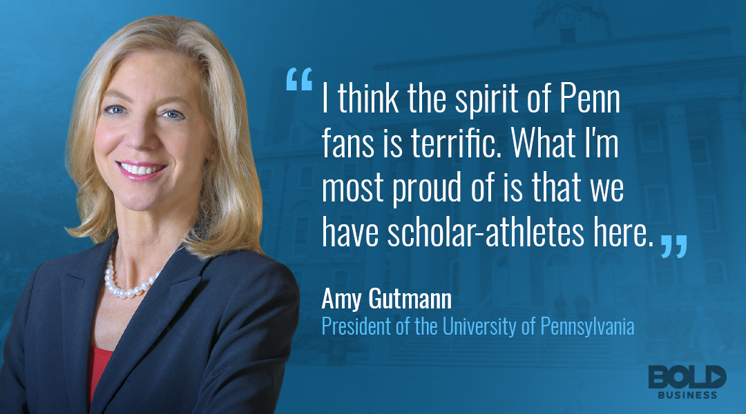 amy gutmann quote on scholar athletes