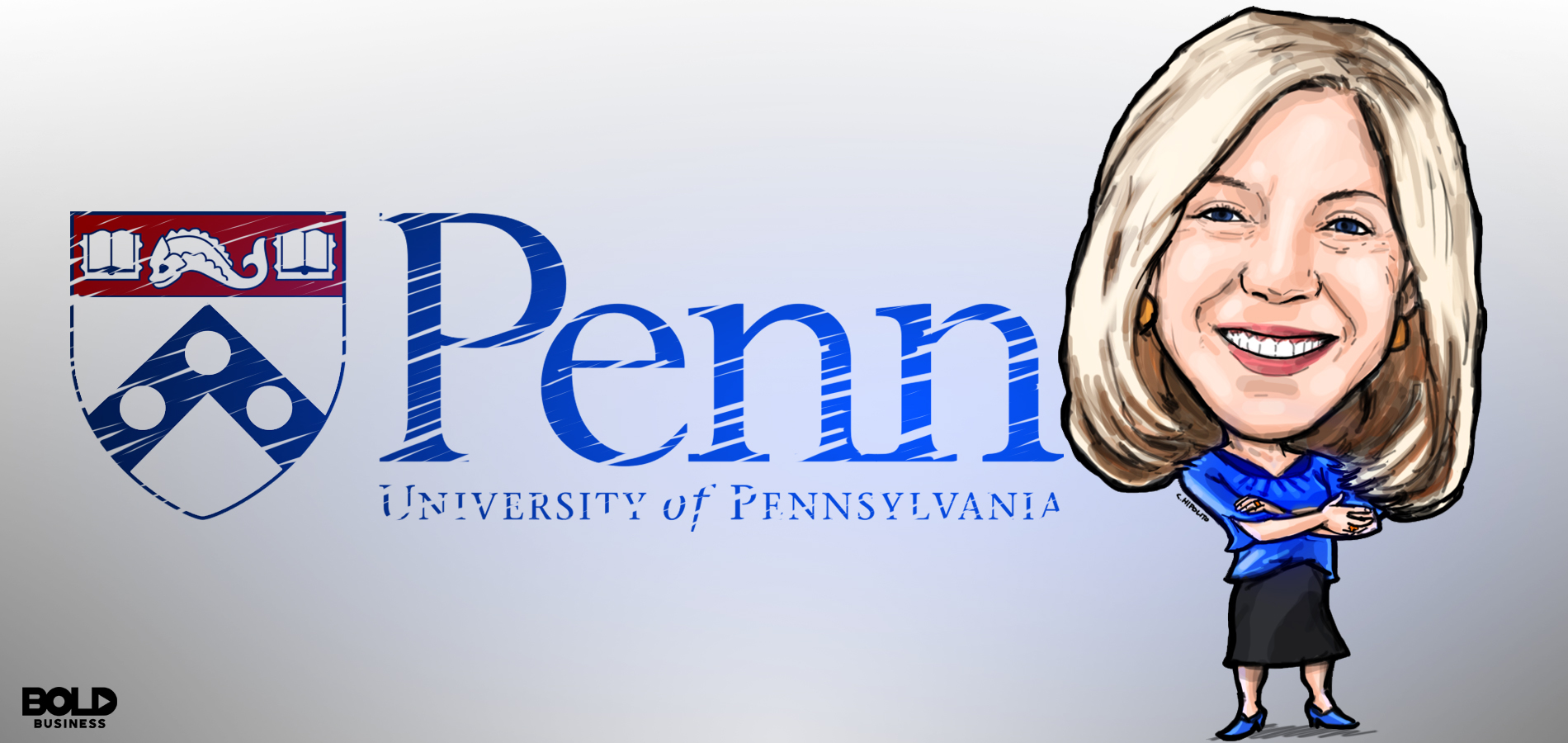 Cartoon of Amy Gutmann University of Pennsylvania