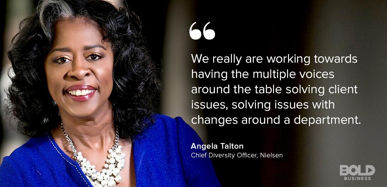 Angela Talton Chief Diversity Officer Nielsen discusses Millennials in the Workforce