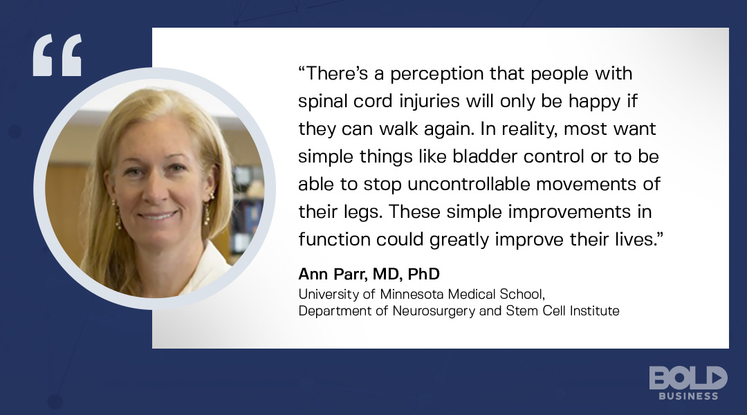 neurological stem cell technology, ann parr quoted on what people really need