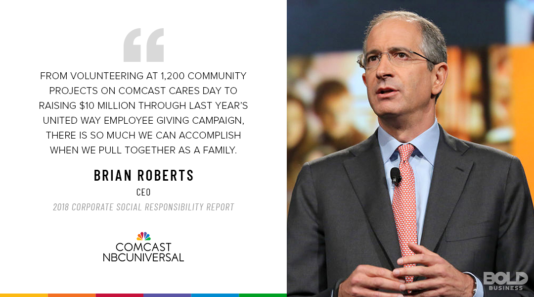 Comcast has maintained its edge as a media company, but that edge hasn't stunted its ethics.