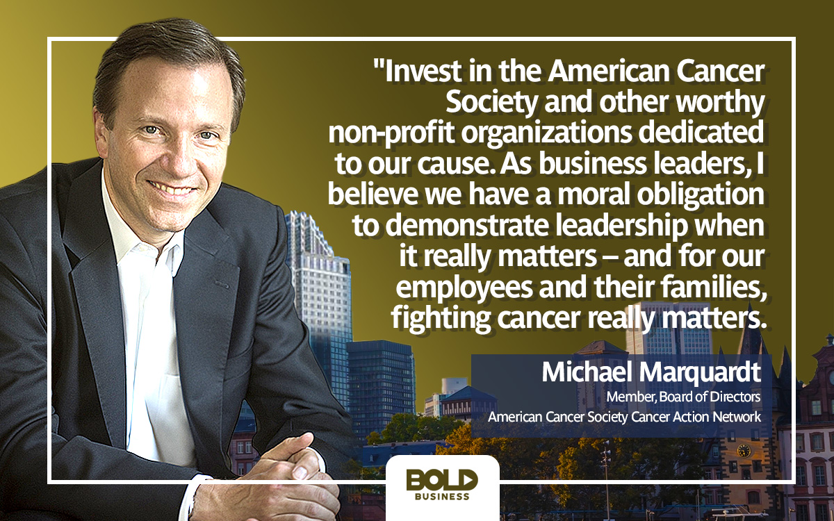 Michael Marquardt quote on American Cancer Society and reducing cancer mortality