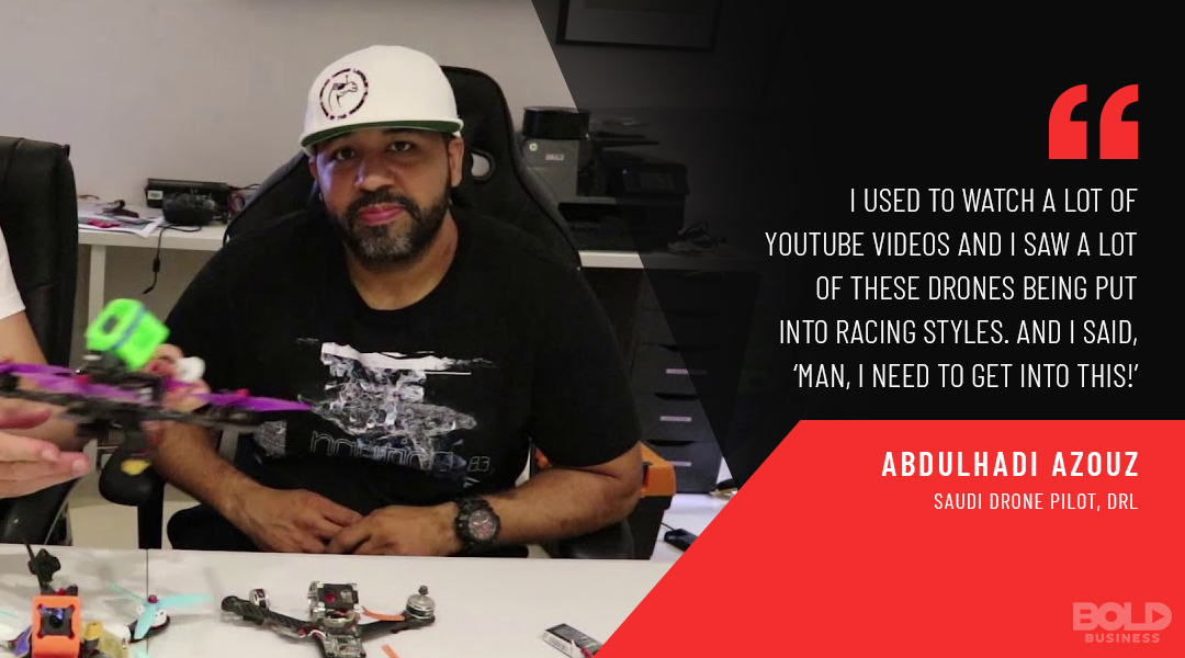 Abdulhadi Azouz the first Saudi drone pilot in the drone racing league