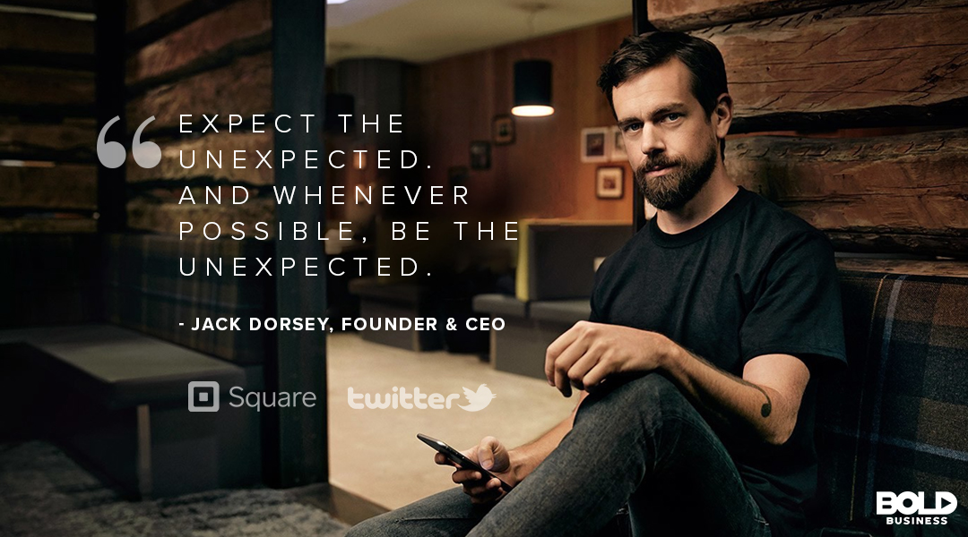 Bold leadership traits such as challenging the status quo and empowering others are Jack Dorsey's bread and butter.