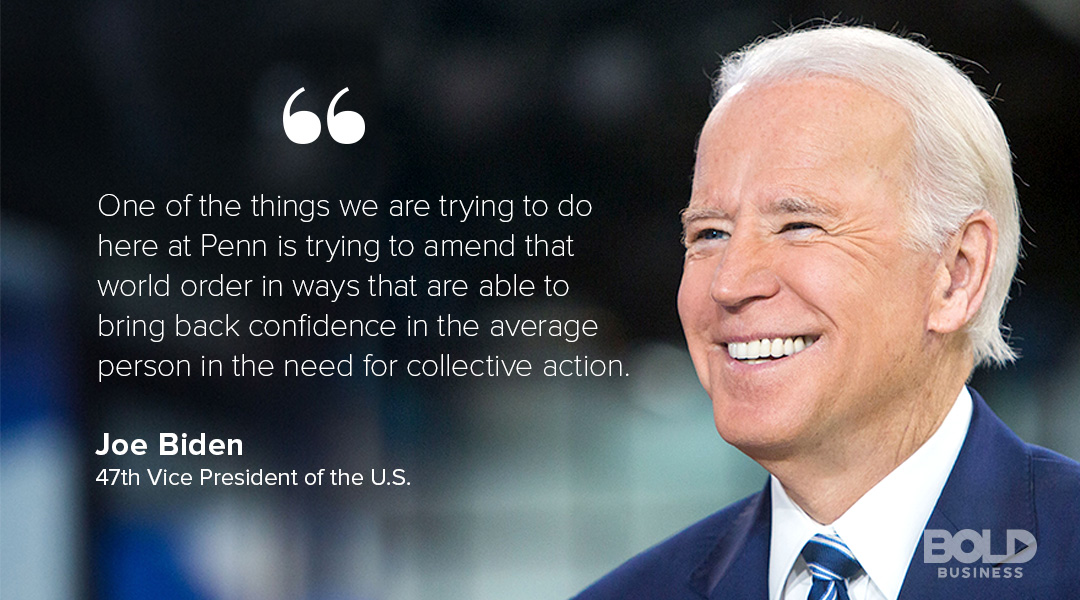 university of pennsylvania majors with joe biden quoted