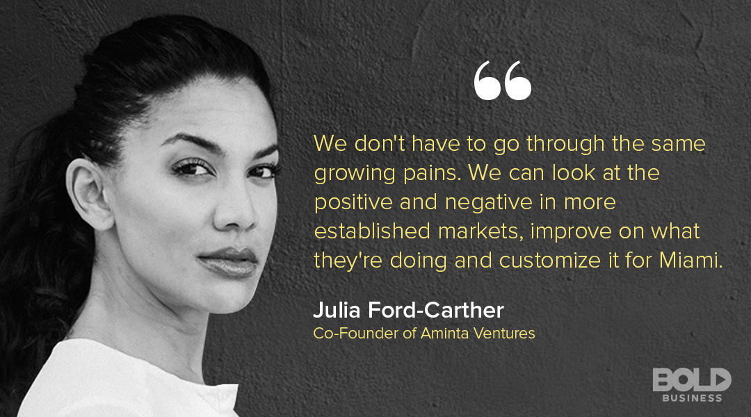 A photo quote of Julia Ford-Carther talking about Venture Capital for Female Entrepreneurs