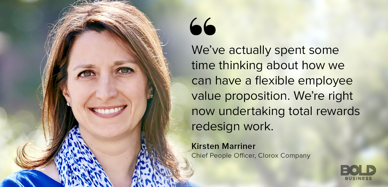 Kirsten Marriner Chief People Officer Clorox Discussing Millennial Value Proposition