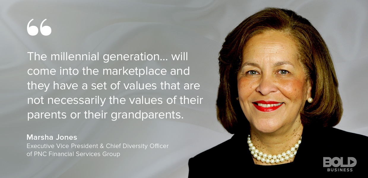 Marsha Jones PNC FInancial Servcies Discusses Millennials in the workplace and Impact on Corporate Culture
