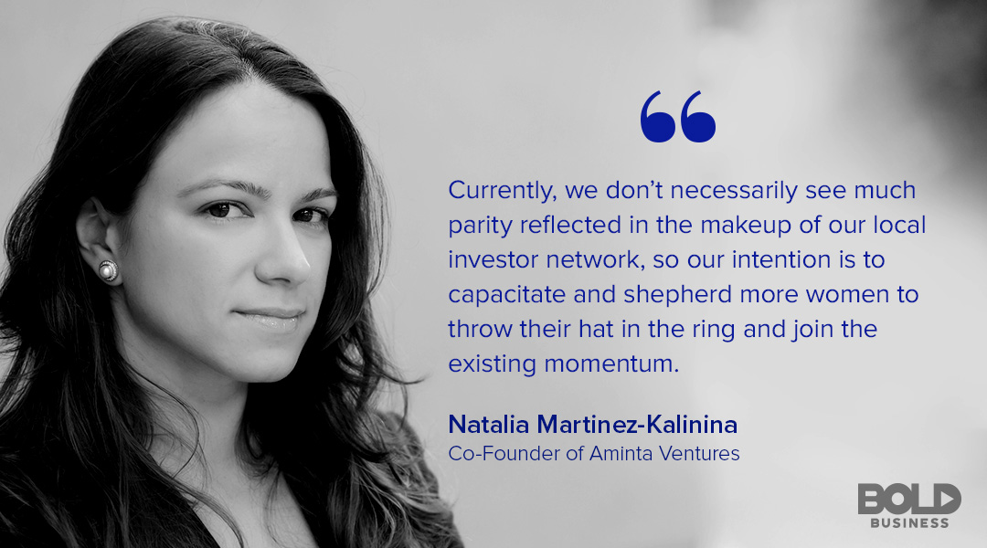 A photo quote of Natalia Martinez-Kalinina talking about Venture Capital for Female Entrepreneurs