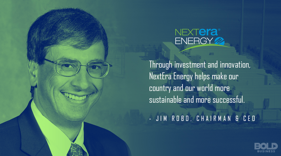 a photo quote of Jim Robo on progressing in NextEra Energy Battery Storage pursuits