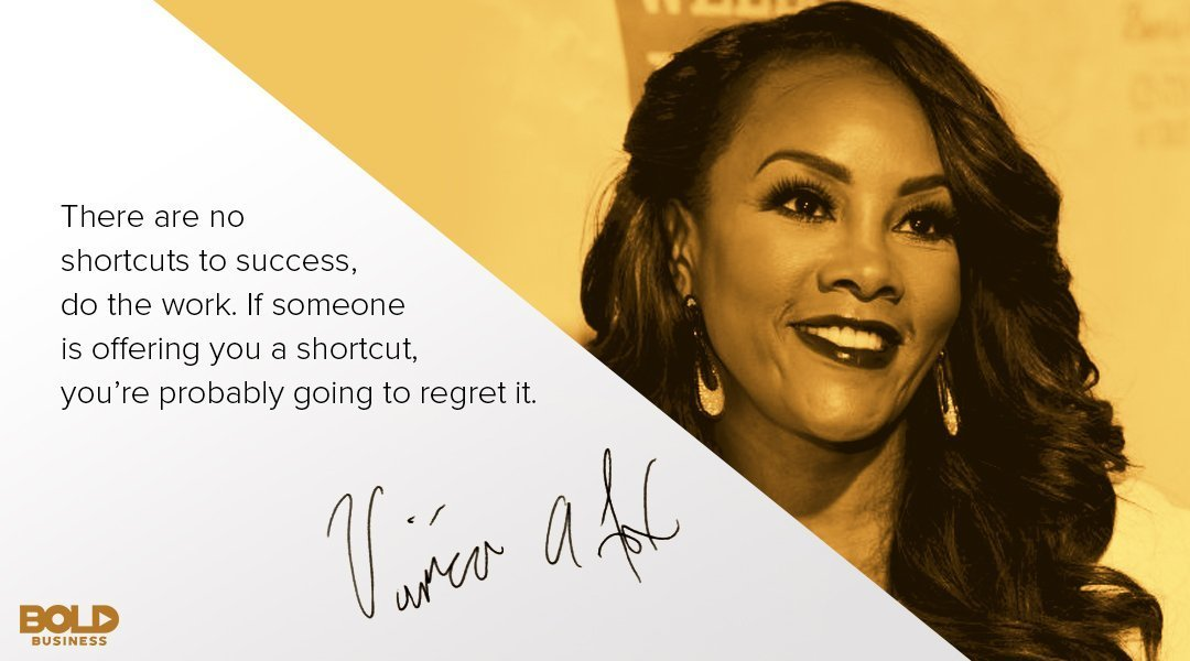 "A photo quote of Vivica A. Fox —a gold tip from the ""Every Day I'm Hustling"" Actress"