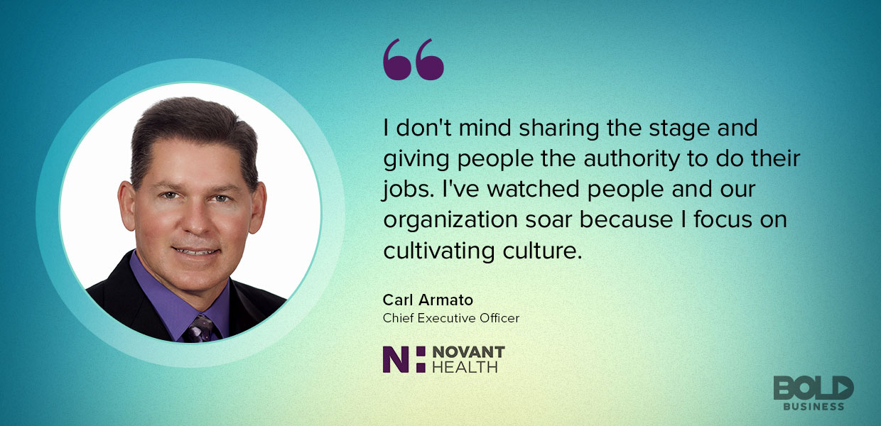 The Novant Health system promotes feedback and engagement among its employees.