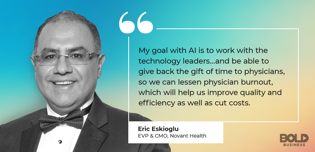 artificial intelligence in radiology, Novant Health's Eric Eskioglu