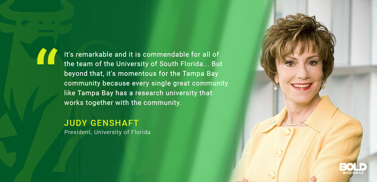 Judy Genshaft quote about University of South Florida's Preeminence