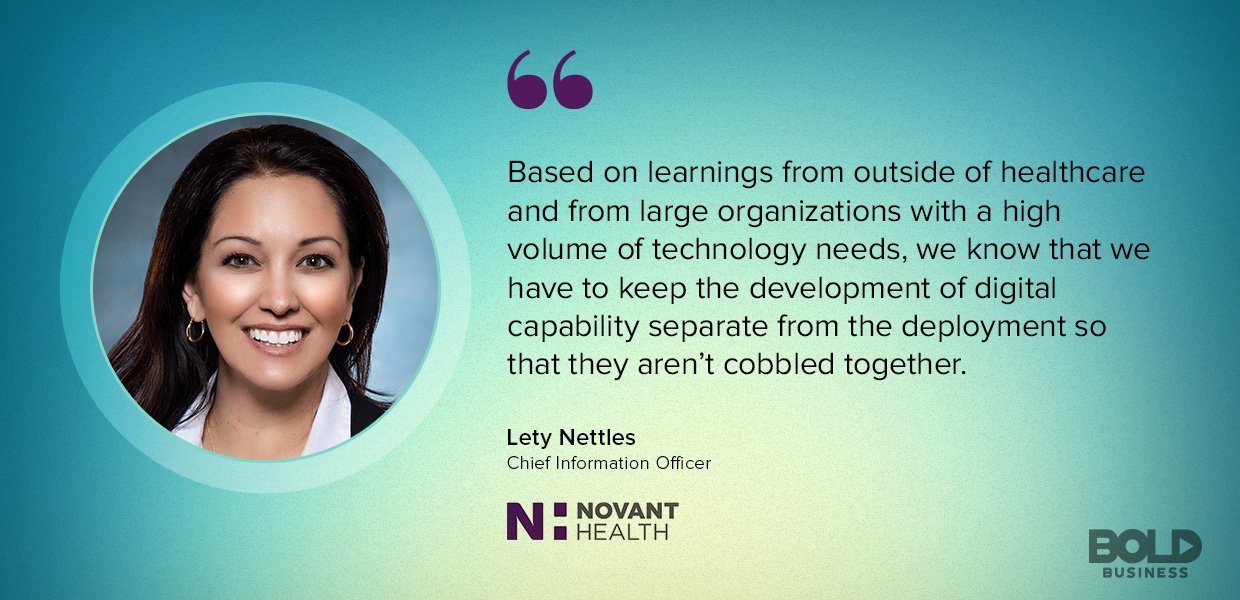For the Novant Health system, developing innovation isn't the same as implementing it.