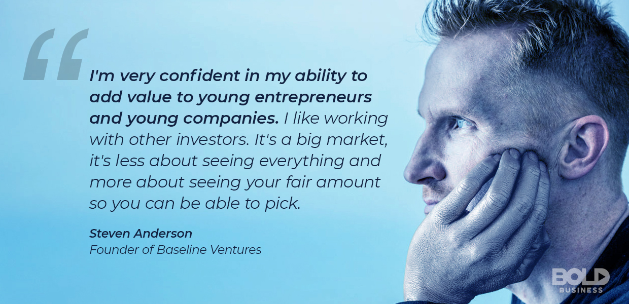 Steven Anderson discusses the importance of early stage venture capital