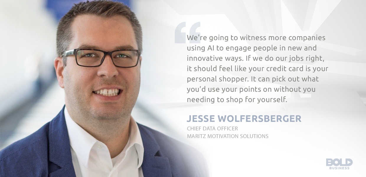 credit card innovation, jesse wolfersberger quote on how companies are using AI