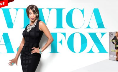 "A photo of Vivica A. Fox and her name—Gold Tips from the ""Every Day I'm Hustling"" Actress"