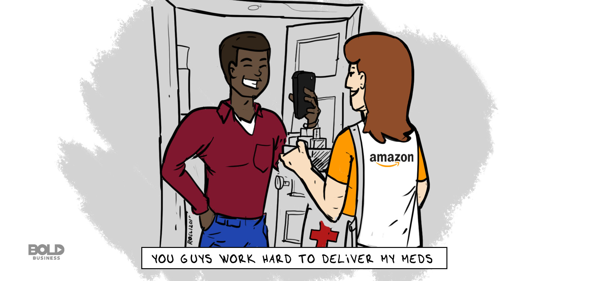Amazon Healthcare Company cartoon