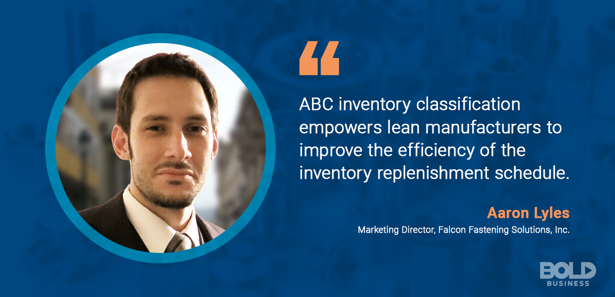 Of the four inventory management strategies, the ABC method works well for lean manufacturers.