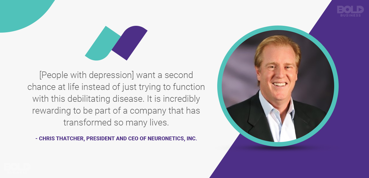 neuronetics ceo chris thatcher quoted
