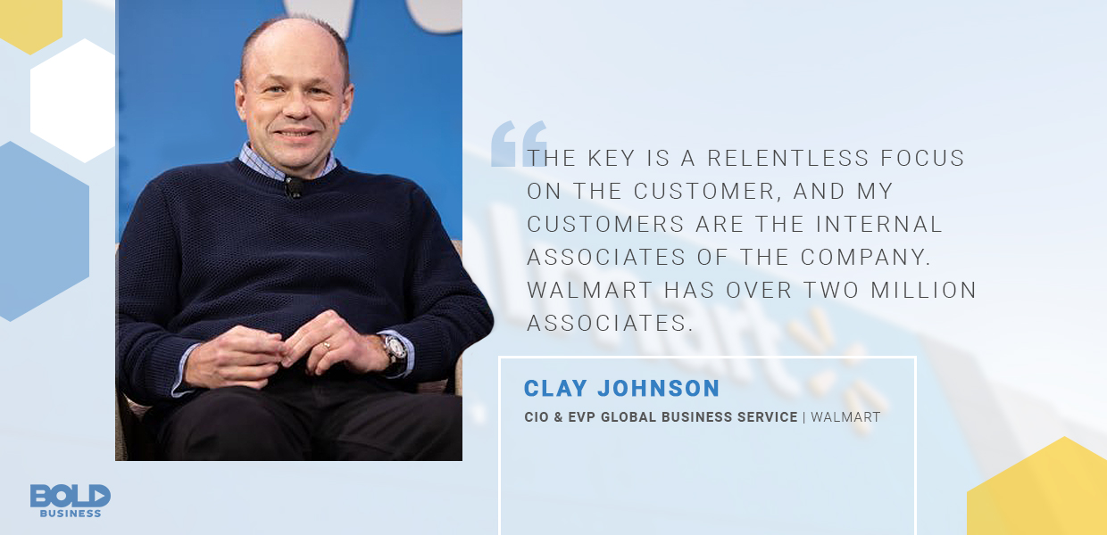 bold leader clay johnson Walmart quoted