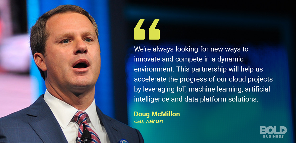 Walmart technology strategy, doug mcmillon quoted