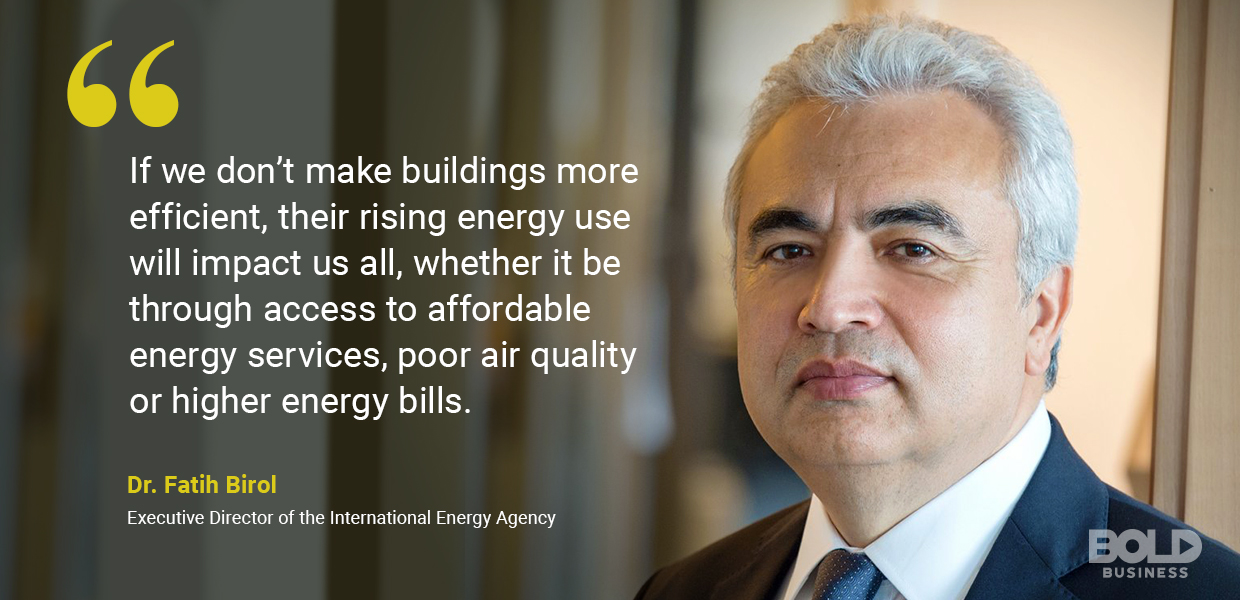 environmental impact of construction - Dr. Fatih Birol quoted