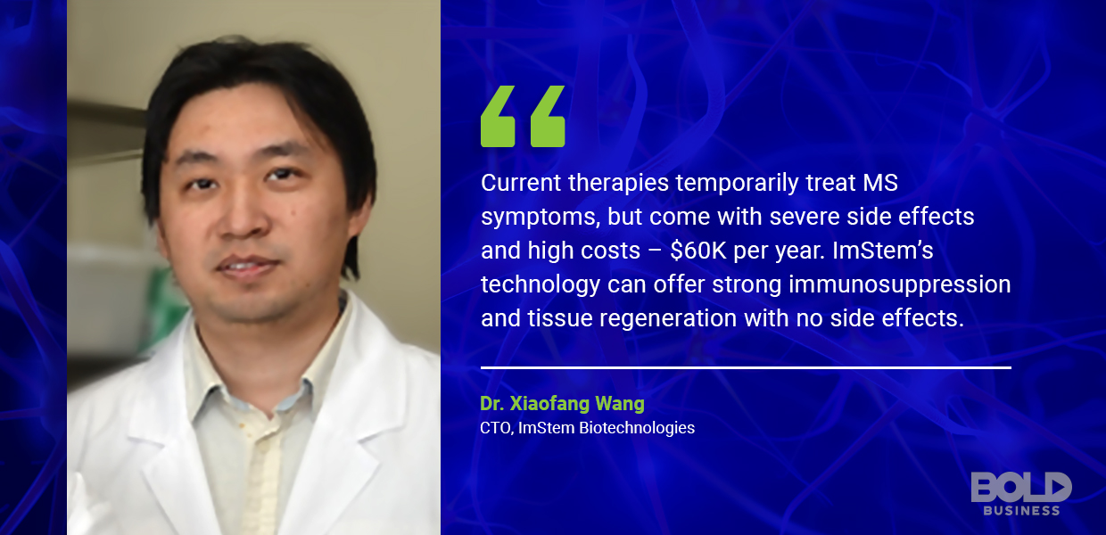 stem cell treatment, dr. xiaofang wang quoted