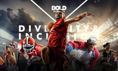 a photo of a group of different athletes showing the growing impact of inclusion and diversity in sports organizations