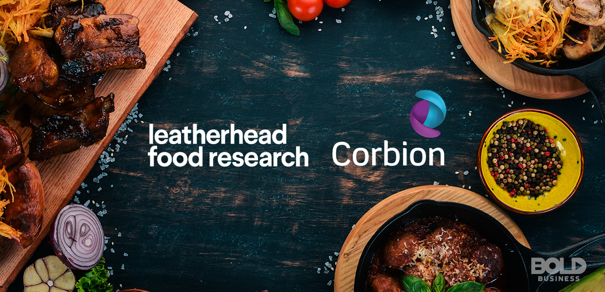 a photo of a table of food with the names, Leatherhead Food Research and Corbion, in the discussion of food emulsifiers, emulsifier in food, and emulsifier health effects