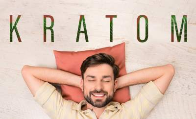 kratom effects, man lying down with hands behind his head