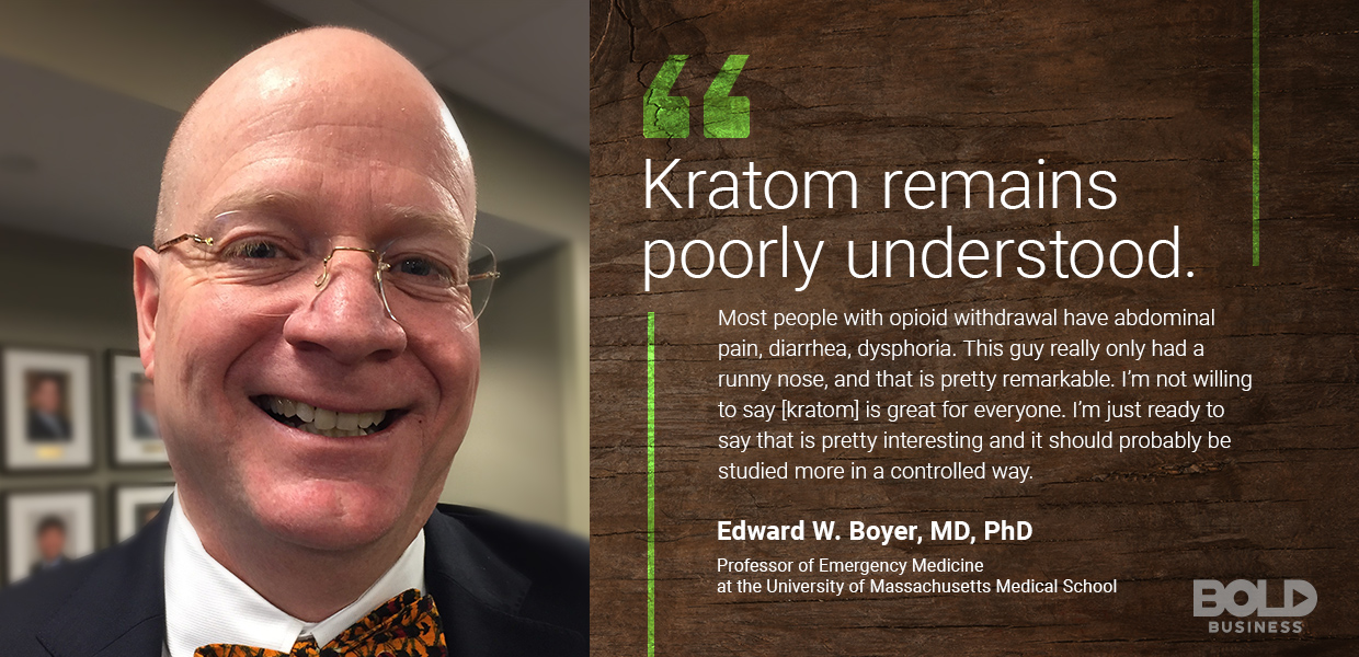 kratom effects - edward boyer quoted