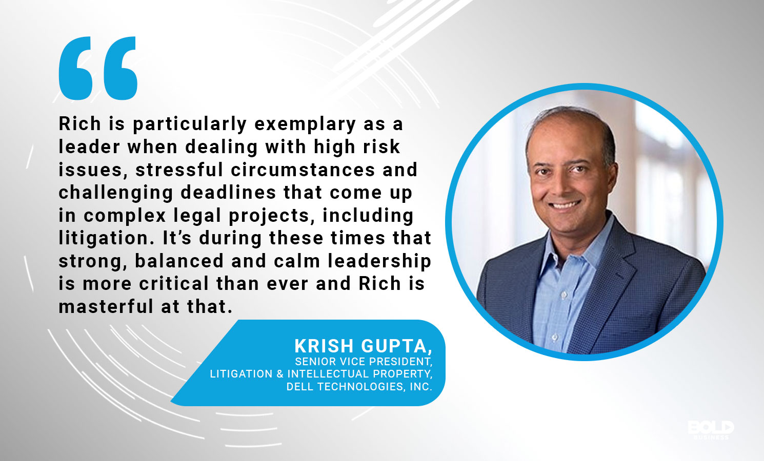 a photo quote of Krish Gupta on the bold impact of Richard Rothberg