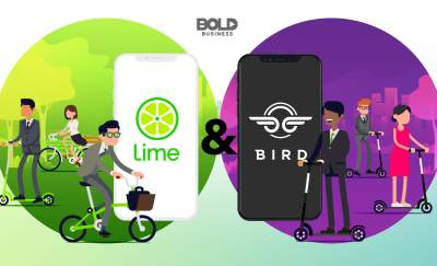lime and bird scooters cartoon