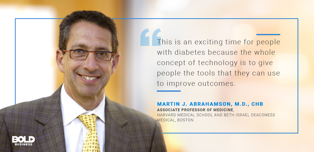 global report on diabetes, martin abrahamson quoted