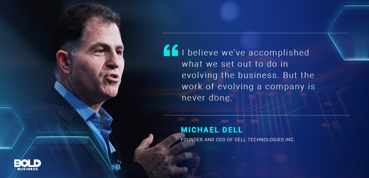 Dell Technologies Inc CEO Michael Dell continues to push the boundaries of the industry.