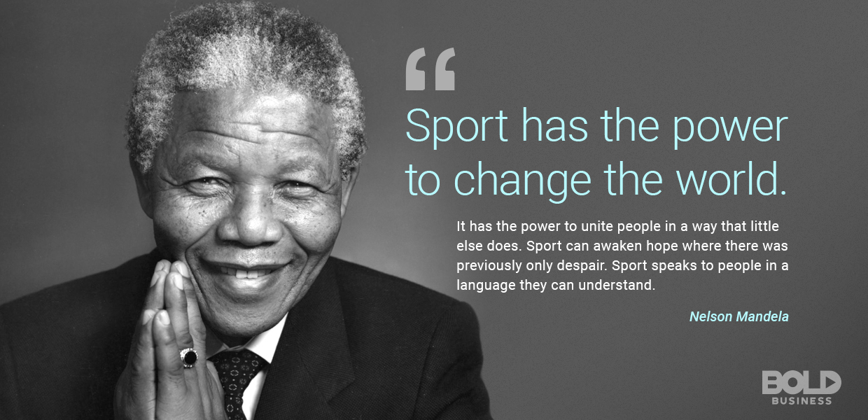 Nelson Mandela discusses reasons why diversity is important to sports