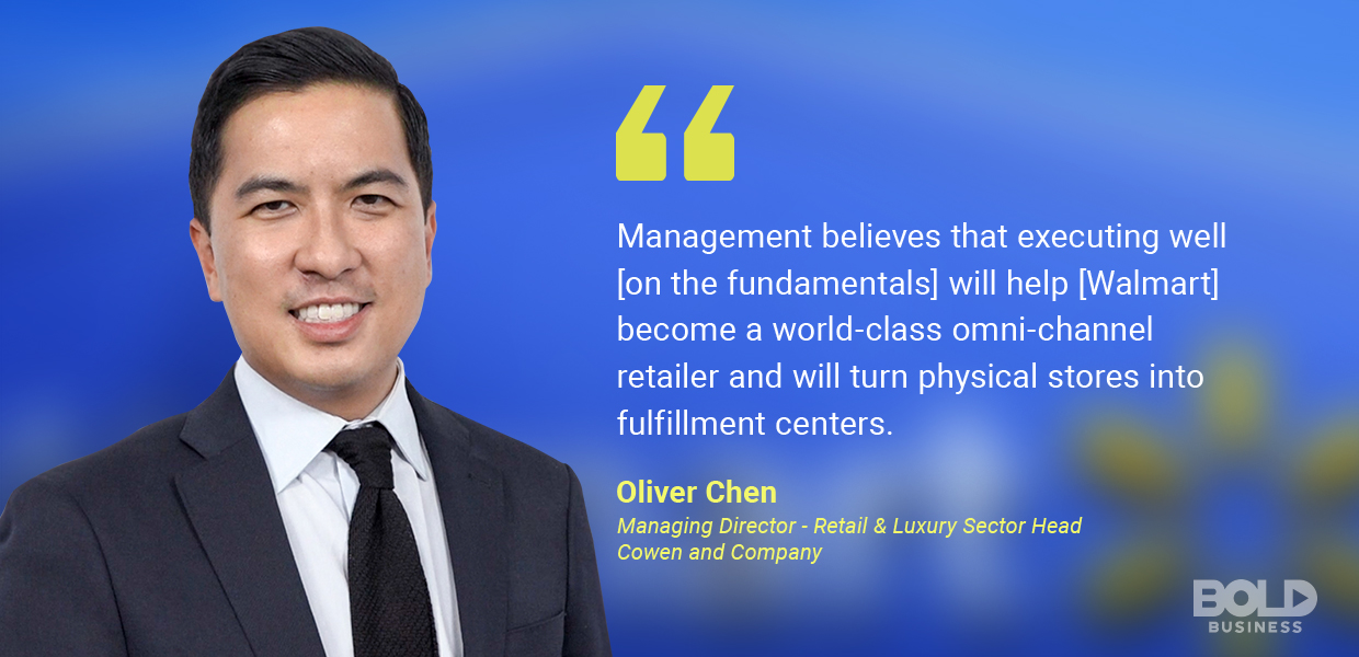 Walmart technology strategy - oliver chen quoted