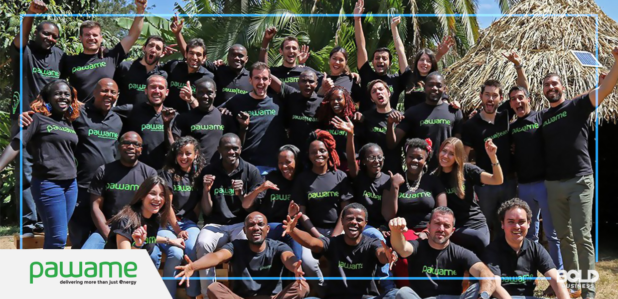 underserved markets, a group of people wearing black shirts with a pamawe printed logo